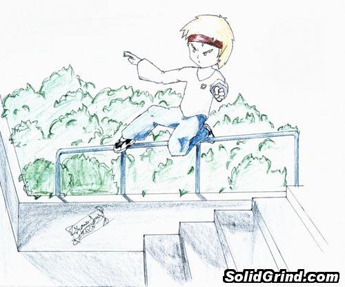 Thomas Lay's drawing of a sidewalk