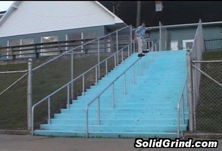 Jim hittin a Frontside down 30 steps!