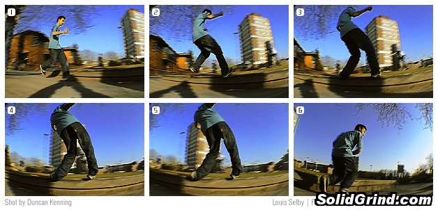 Louis Selby busting a frontside 'nugen during the recent UKFSW trip to Ipswich.
