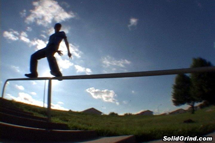 Cullen Wurzer hittin a Royale on the school handrails