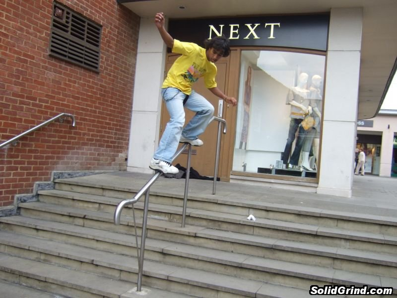 Damian Zoil stickin a Frontside on the Next rail