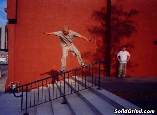 Bart Johnson hittin a Frontside at John Deere Pavilion