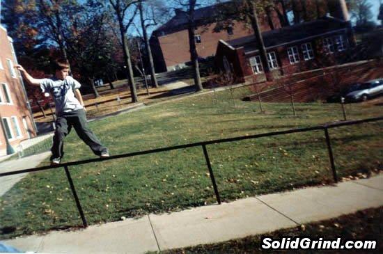 Strider Patton hittin a Frontside at Cornell