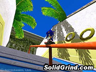 Sonic the Hedgehog busting a royale and getting rings