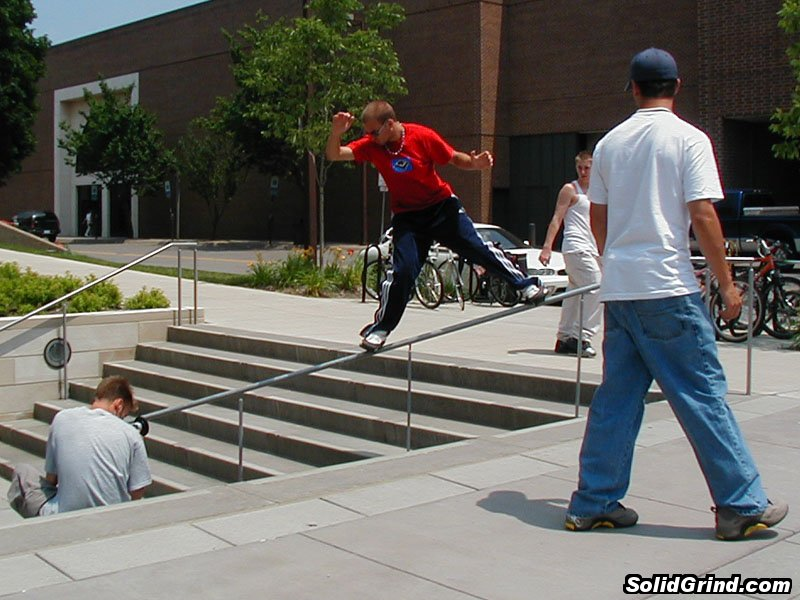 Daylon Smith with a frontside in Iowa City