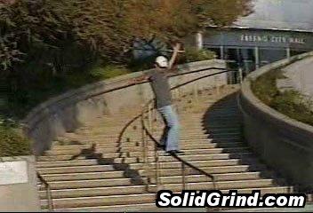 Steven Lam hittin a Frontside on a sick rail