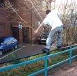 Stuart Pickston hitting a farf on the Civic Center Rail