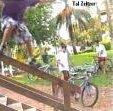 Tal Zeltzer hittin a Sliding a wooden rail